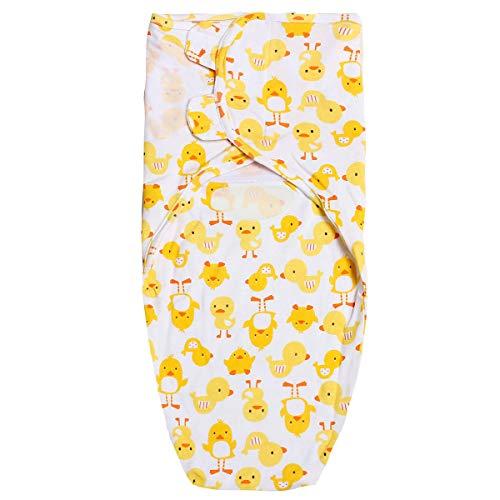 Gigoteuse d'emmaillotage 100 % coton doux et réglable pour bébé de 0 à 12 mois (A)