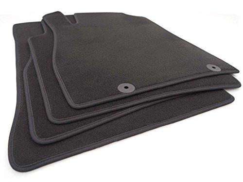 kh Teile 5192 Lot de 4 tapis de sol en velours Noir