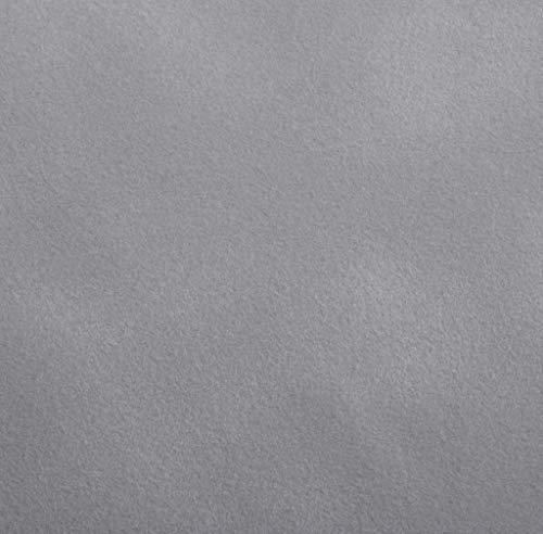 Venilia Klebefolie Velvet Samtoptik Grau, Veloursfolie, Samtfolie, Dekofolie, Möbelfolie, Tapeten, selbstklebende Folie, PVC, hellgrau, 140µm (Stärke: 0,14 mm), 53195