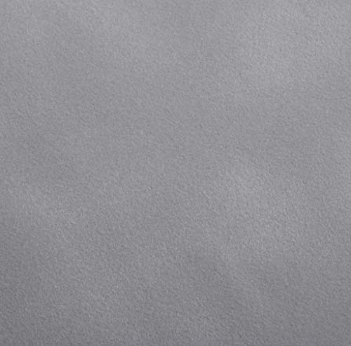 Venilia Samt Optik Grau Klebefolie Velvet Samtoptik, Veloursfolie, Samtfolie, Dekofolie, Möbelfolie, Tapeten, selbstklebende Folie, PVC, hellgrau, 140µm (Stärke: 0,14 mm), 53195, 45 cm x 1 m
