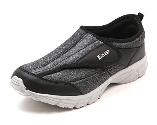 [エニスト] メンズ おしゃれな介護シューズ 3E 超軽量 スニーカータイプ リハビリシューズ ブラック 27.0cm