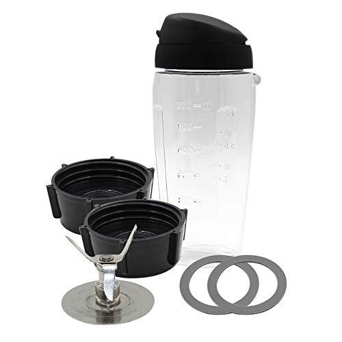 Anbige Replacement parts Cups with Blade and lid Blend-N-Go Smoothie Kit ,for Oster Blender Arkansas