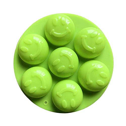 7 Smiley-Silikon-Kuchen-Form Nonstick Silikon-Kuchen-Form-Kuchen-Pop Sugarbackbleche - Zufällige Farbe