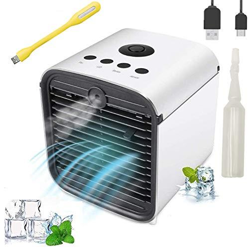 Nifogo Climatiseur Mobile Portable - Refroidisseur d'air Cooler et Ventilateur, 3 en 1 Mini Climatiseur, Humidificateur, Purificateur,7 Couleurs LED Light