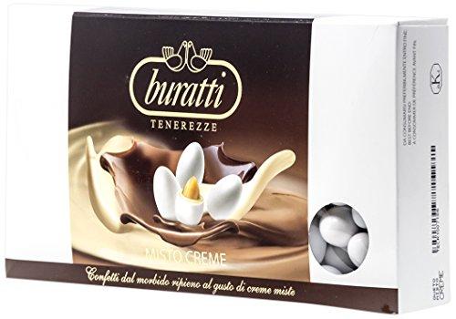 Buratti Confetti con Ripieno al Gusto di Creme Miste, Tenerezze Misto Creme - 1000 g
