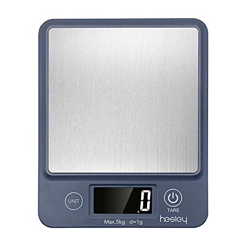 HESLEY HSK1 Digital Kitchen Scale 5kgs with Stainless Steel Platform