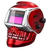 DEKO Solar Power Auto Darkening Welding Helmet with Adjustable Shade Range 4/9-13