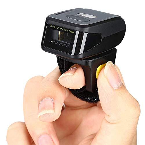Bluetooth tragbare Mini-Funk eindimensionale Strichcode-Scanner kompatibel mit 2,4-GHz-Funktion Wireless-LAN-Verbindung Tragbarer Finger Express-Scan-Pistolen