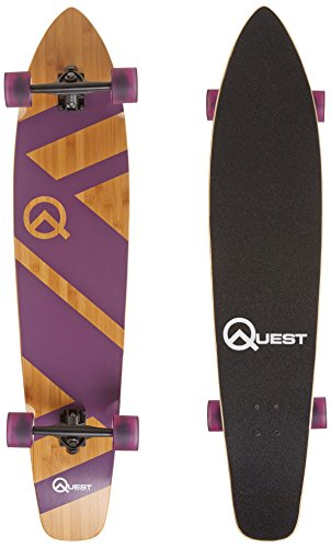 "The Quest Super Cruiser Purple Artisan Bamboo and Maple 44"" Longboard Skateboard"