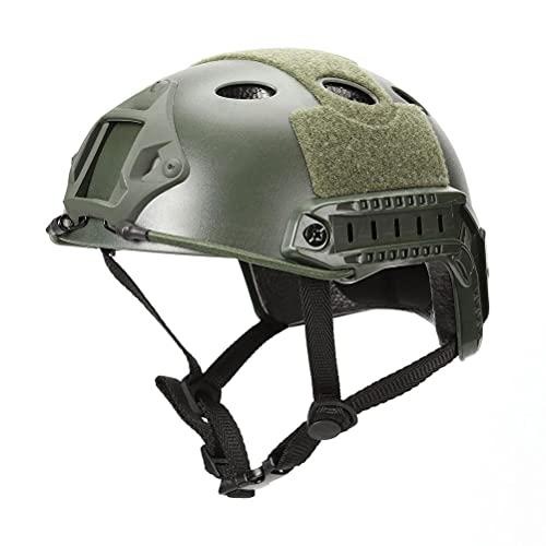 BASOYO Casco táctico militar Airsoft Gear Paintball Head Protector plegable de malla con protección para los oídos, cubierta de cara ajustable para adolescentes y adultos
