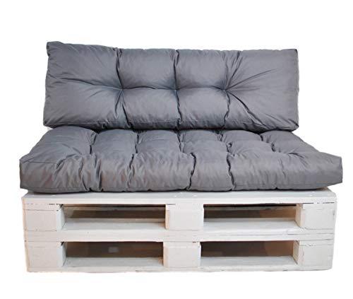 Mayaadi Home Palettenkissen Sitzkissen Euro Paletten Palettenauflage MH-DA-02 Grau 120x80x15 cm