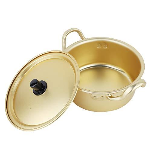 Yunnyp Korean Ramen Instant Noodle Pot,Ramen Noodle Pot Korean Yellow Aluminum Stockpot Instant Noodles Pot