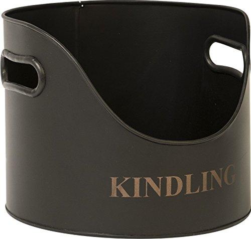 Ivyline IRKH Round Iron Kindling Holder - Black