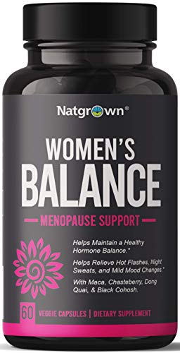 Women's Balance - Hormone Balance for Women Menopause Relief Supplement with Maca Root + Vitex + Dong Quai + Black Cohosh Menopause Support Complex - Helps Relief Hot Flashes - 60 Vegan Capsules