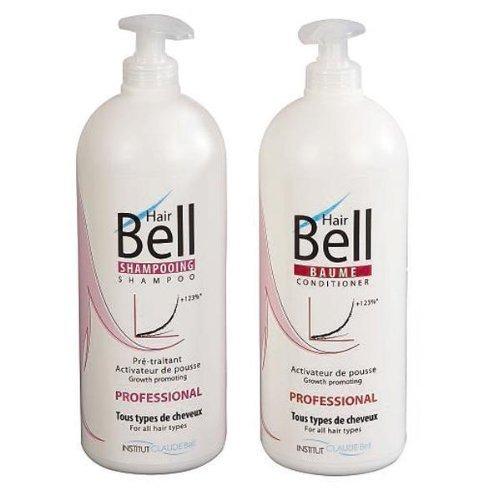Hairbell PRO Set Shampoo 1000 ml + Balsam 1000 ml beschleuniger de shoot De haare