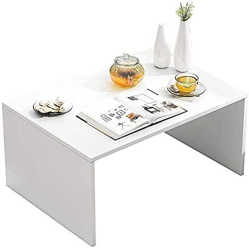 WSVULLD Tavolino da caffè, Tavolo Basso in Stile Giapponese (Bianco), può Essere utilizzato Come Tavolo da Computer/Baia da Tavolo/da Letto Tavolo/da Letto/per Cabinet TV, 60 * 30 * 30 cm