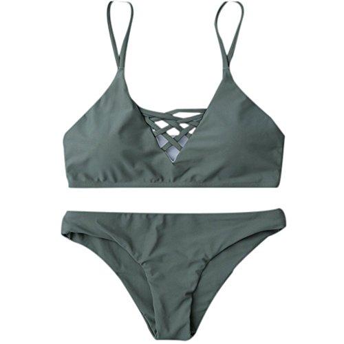PinkLu Badeanzug Damen Mode Sling-Bikini HeißEr FrüHling Sexy Sonnenlicht Slim Fit Sommer Neuer HeißEr Einfarbiger Badeanzug