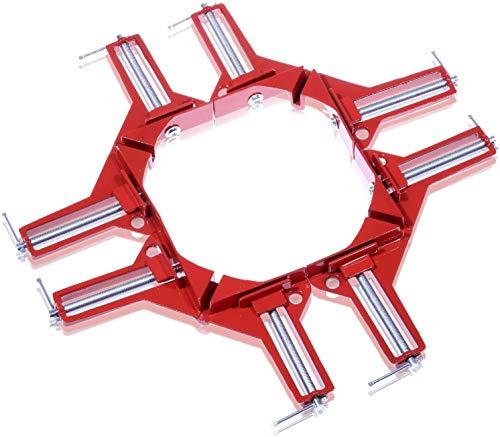 NESHEXST DIY専門誌 ドゥーパ!掲載モデル コーナー クランプ 木工 溶接 取り扱い説明書付属 (4個セット)
