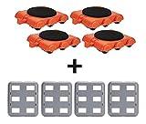 UPP® Transporte de muebles I Sistema profesional de rodillos y deslizador de muebles I ruedas para transportar o desplazar muebles