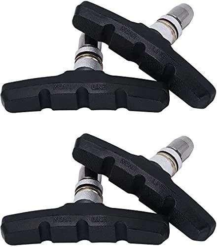 Zapatas de Freno para Bicicleta/Zapatas para Bicicleta/Pastillas de Freno para Bicicletas/Zapatas para Freno 4Piezas (Negro)