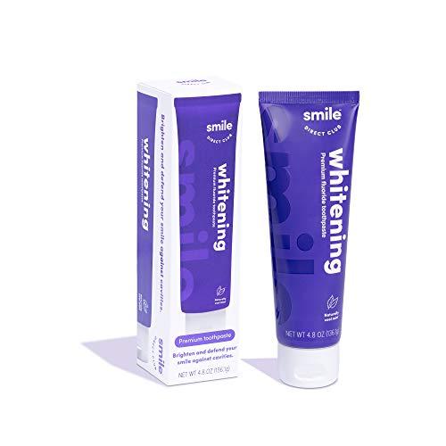 Smile Direct Club Premium Teeth Whitening Flouride Toothpaste - Whitens Teeth While Brushing, 4.8oz