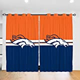 RWNFA Powerful Horse Blackout Curtains 36' W x 63' L Energy Efficient Grommet Window Drapes for Sliding Glass Door 2 Panels