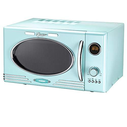 Melissa 16330103 - Forno a microonde stile retrò con grill, 900 Watt 25 litri Menta piperita