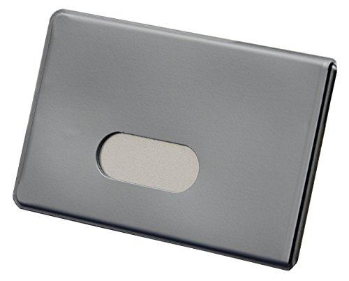 2 x TÜV geprüfte RFID NFC Schutzhüllen aus Kunststoff für Kreditkarten und Bankkarten von BE-HOLD sind die idealen Scheckkartenhüllen zum Schutz vor Datendieben (2 Stück, Silber)