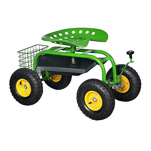 LeMeiZhiJia Rollsitz Fahrbare Sitzgelegenheit Gartengerät Mobile Hocker Gartensitz Gartenwagen Gartenhelfer Rollwagen für Haushalt und Garten (Modell C)
