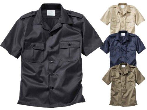 Surplus Homme Chemise US Shirt 1/2 ARM , Size L, Color black