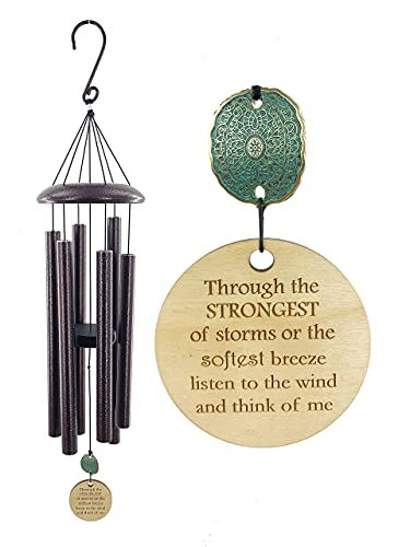 USA Seller Memorial Gift 28 Inch PCP Sympathy Wind Chime Copper Patina Listen To the Wind Circle In Sympathy After Loss in Memory of a loved one by Weathered Raindrop
