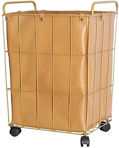 Lavandería cesta ropa cesta nórdica impermeable lavandería cesta de la casa juguete de almacenamiento cubo cubo cuero cuero canasta canasta duradera lavado de contenedor sucio ropa de almacenamie