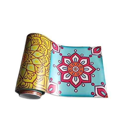 Yujeet Traditionelle Muster PVC Selbstklebende Klebrige Papierrückseite Tapete, Aufkleber von Boden & Möbel & Tür (20cmx500cm, 7.8inx196.85in) (Style#2)
