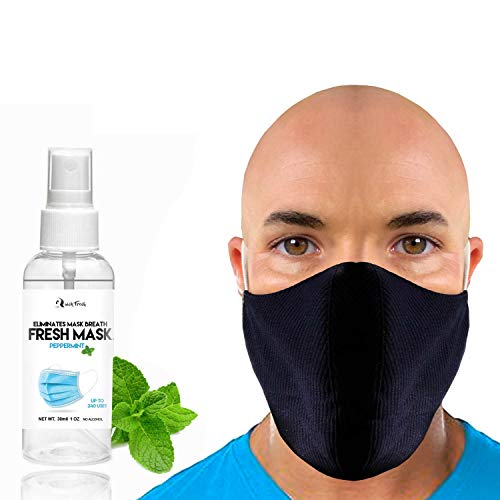 New Face Mask for Small or Big Beards with Mint Mask Spray/Keep Your Hairs in and Eliminate MASK Breath