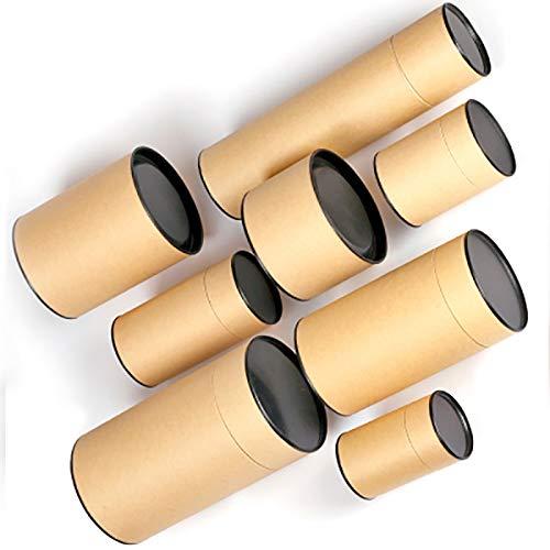 HLH Xin Jia Yi - Caja de papel kraft para regalo de cumpleaños, fiesta de té, galletas, maleta, papel, 5 tamaños (tamaño: 6,5 cm x 13 cm)