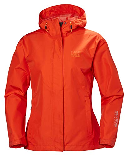 Helly Hansen Women's Seven J Waterproof Windproof Breathable Rain Coat Jacket, 147 Magenta, X-Small