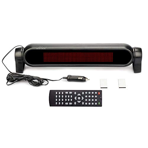 Leadleds Dc12v Led Car Rear Window Sign Board Scrolling Red Message Display Board Led Banner with Remote Controller and Cigar Lighter - Fast Programmable