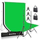 MountDog Photography Backdrop Stand 10ft Adjustable Photo Backdrop Stand System Support Kit