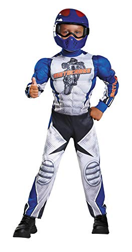 Motorcycle Rider Toddler Muscle Costume, Large/4-6