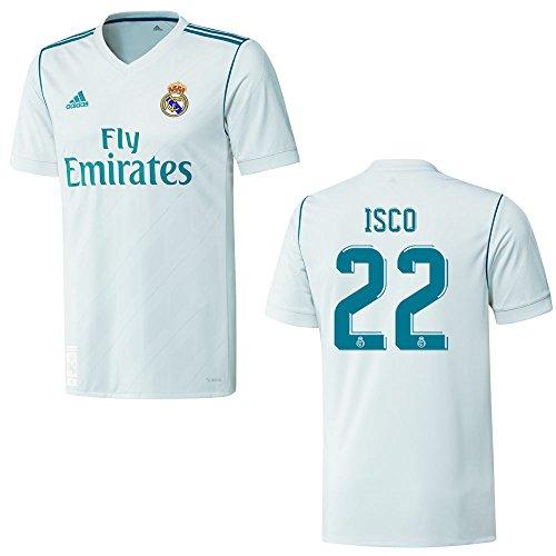 adidas REAL Madrid Trikot Home Kinder 2018 - ISCO 22, Größe:176