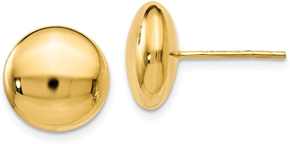 Leslie's 14k Yellow Gold Polished Button Earrings