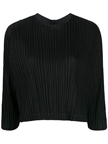 PLEATS PLEASE ISSEY MIYAKE Luxury Fashion Damen PP98JK50115 Schwarz Synthetisch Fasern Bluse | Frühling Sommer 20