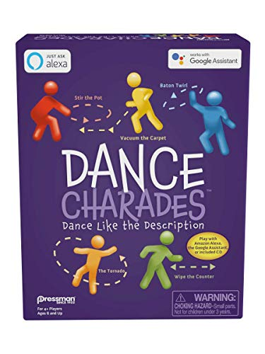 Pressman Dance Charades - Can Be Played with Included CD, Alexa Skills or Google Assistant
