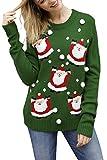 Viottiset Women's Animal Christmas Pullover Knitted Sweater S Green Reindeer