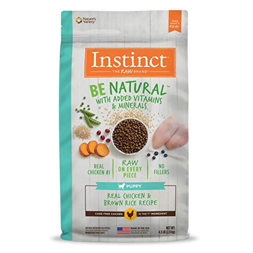 Instinct Be Natural Puppy Real Chicken & Brown Rice Recipe Natural Dry Dog Food by Nature's Variety, 4.5 lb. Bag