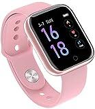 HIMU Fitness Reloj de Pulsera con rastreador de Ejercicios Reloj Deportivo Bluetooth Rastreador de Actividad Podómetro Monitor de sueño Contador de calorías Monitor de frecuencia cardíaca Rosa-Rosado