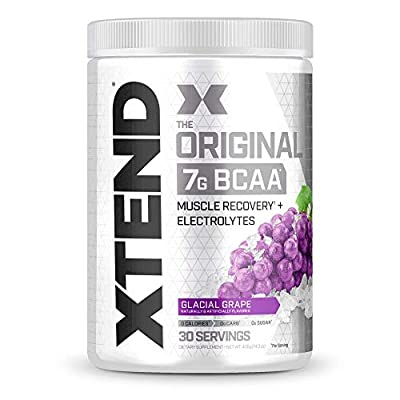 XTEND Original BCAA Powder Glacial Grape | Sugar Free Post Workout Muscle Recovery Drink with Amino Acids | 7g BCAAs for Men & Women |30 Servings