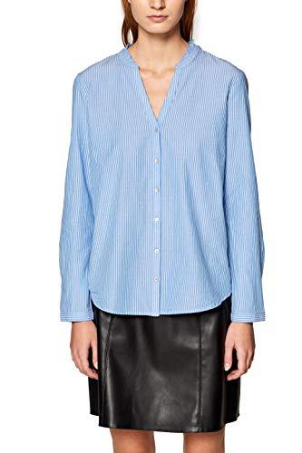 edc by ESPRIT Damen 019CC1F008 Bluse, Blau (Light Blue 440), Medium (Herstellergröße: M)