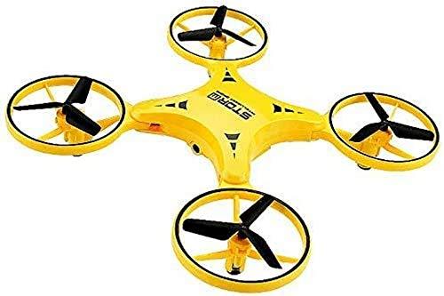 aipipl Dron, Sensor de Gravedad, fuselaje Plegable de 90 Grados, Acrobacias en 3D, flotación por presión de Aire, Luces LED Brillantes, Quadcopter RC controlado por Gestos, Amarillo