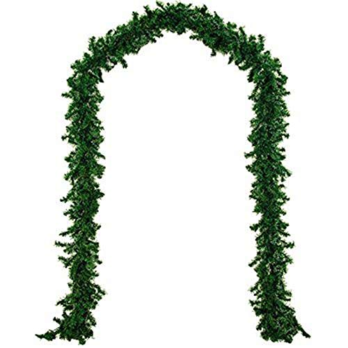 Hzemci Christmas Garland - 2.7M Christmas Realistic aAtificial Garland, Home Window Garland, Christmas Greenery Garland, Holiday Garland, Used for Home, School, Office, Hotel, Shopping Center, Bar